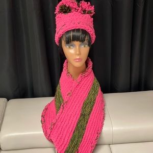 Pixie Pink Camouflage infinity scarf set
